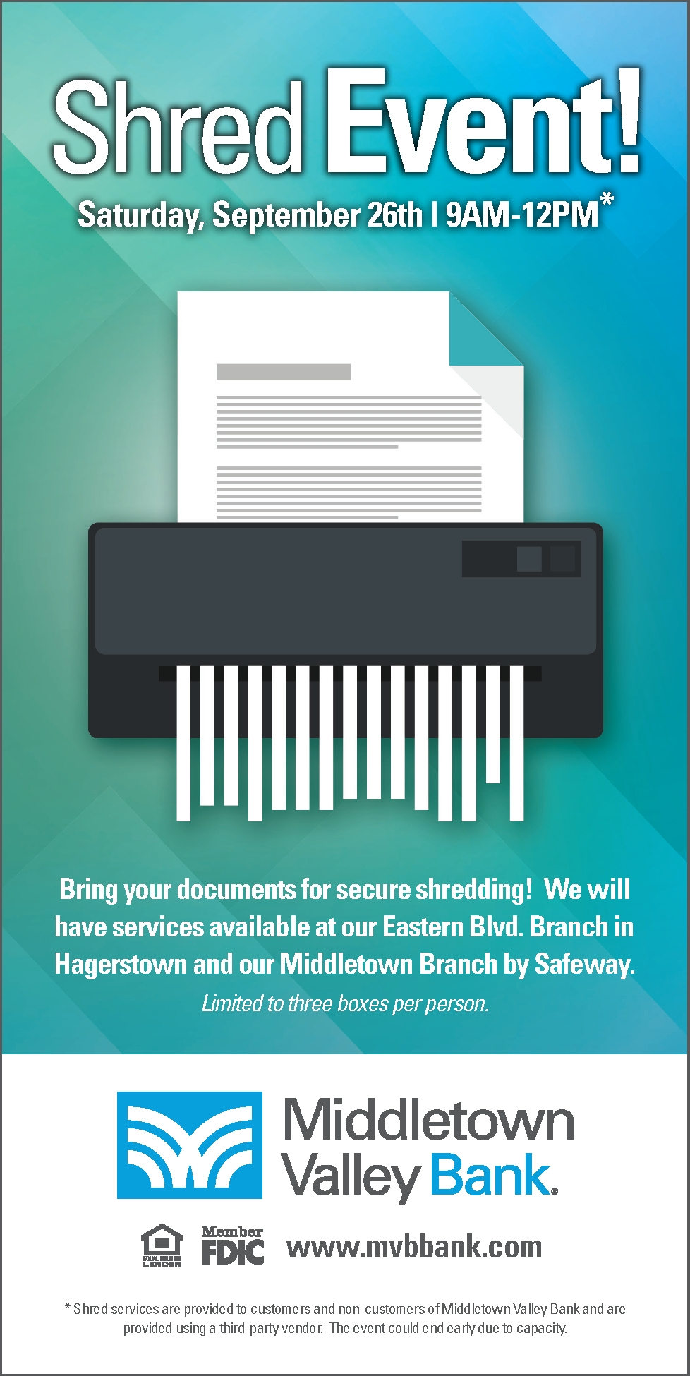 Shred Event Ad - Click for PDF