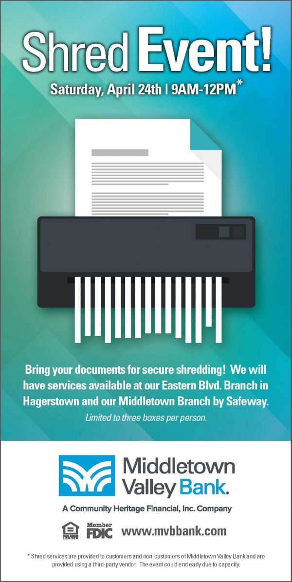 shred event blue and green april 24 2021